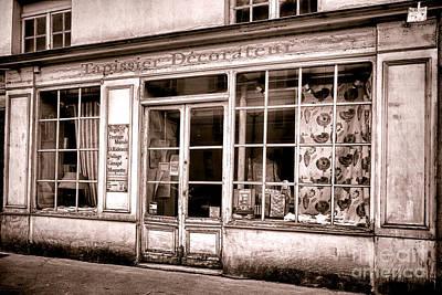 Storefront Photograph - Tapissier Decorateur by Olivier Le Queinec