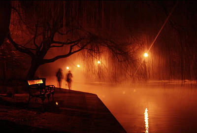 Nighttime Photograph - Tapolca - Hungary by Cambion Art