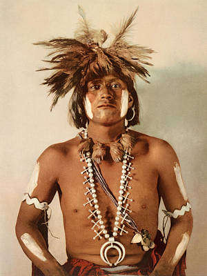 Indigenous Culture Photograph - Taqul, A Moki Snake Priest by William Henry Jackson
