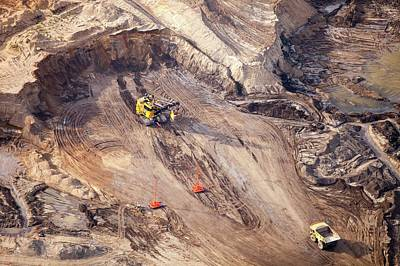 Destruction Photograph - Tar Sands Deposits Being Mined by Ashley Cooper