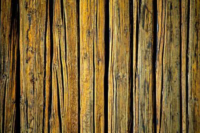 35mm Photograph - Tar-treated Wooden Wall by Hakon Soreide