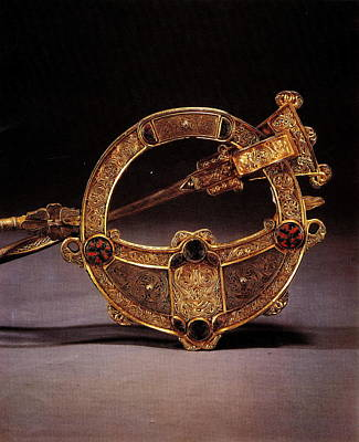 Photograph - Dublin  Tara Brooch by Val Byrne