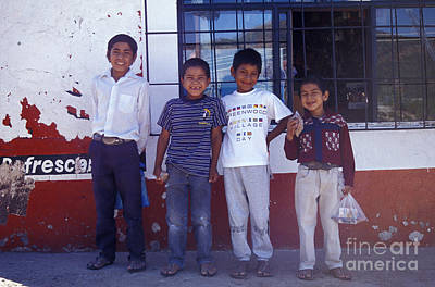 Photograph - Tarahumara Boys Mexico by John  Mitchell