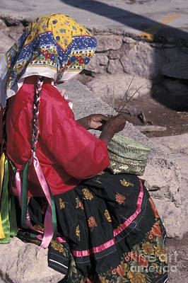 Photograph - Tarahumara Weaver Mexico by John  Mitchell