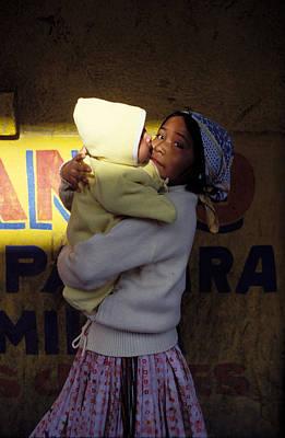 Taramujara Girl And Baby Art Print by Mark Goebel