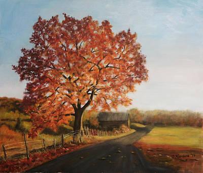 Taras Golden Tree Art Print