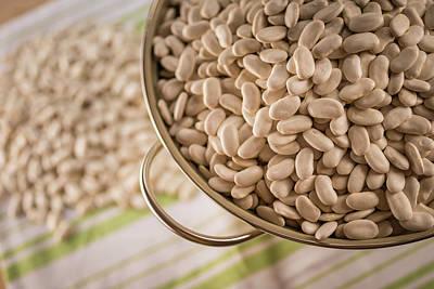 Colander Photograph - Tarbais Beans In A Colander by Aberration Films Ltd