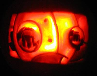 Sculpture - Tarboy Pumpkin by Shawn Dall