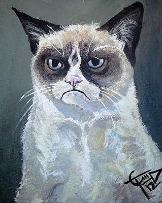 Tard - Grumpy Cat Art Print
