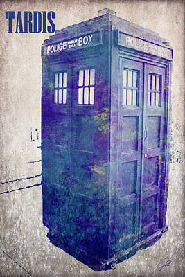 Police Art Digital Art - Tardis by Paulette B Wright