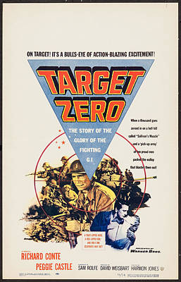 1955 Movies Photograph - Target Zero, Us Poster, Richard Conte by Everett