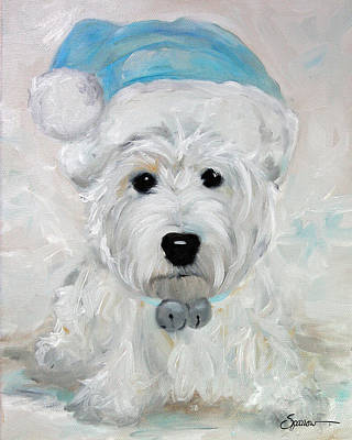 Popular Rustic Neutral Tones - Tarheel Santa by Mary Sparrow