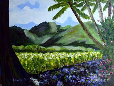 Painting - Taro Field by Laurie Morgan