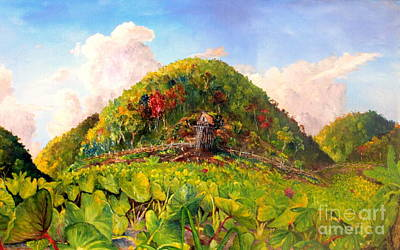 Painting - Taro Garden Of Papua by Jason Sentuf