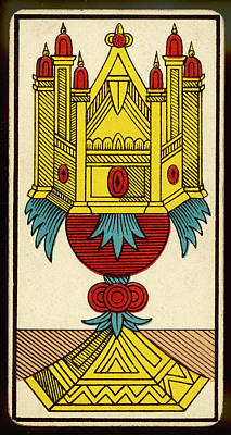 Tarot Drawing - Tarot Card - As De Coupe (ace Of Cups) by Mary Evans Picture Library