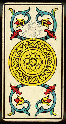 Tarot Drawing - Tarot Card - As De Deniers (ace by Mary Evans Picture Library