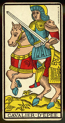 Tarot Drawing - Tarot Card - Cavalier D'epee (knight by Mary Evans Picture Library