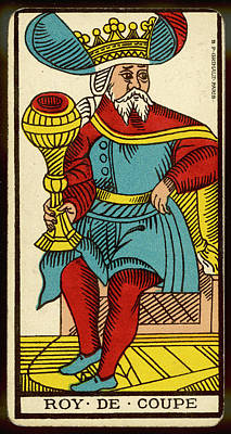 Tarot Drawing - Tarot Card  - Roy De Coupe (king by Mary Evans Picture Library