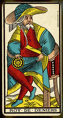 Tarot Drawing - Tarot Card - Roy De Deniers (king by Mary Evans Picture Library