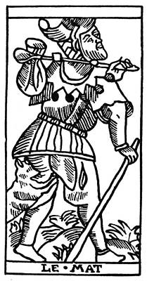 Occult Painting - Tarot Card The Fool by Granger