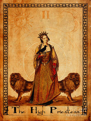 Mysticism Painting - Tarot Card The High Priestess by Cinema Photography