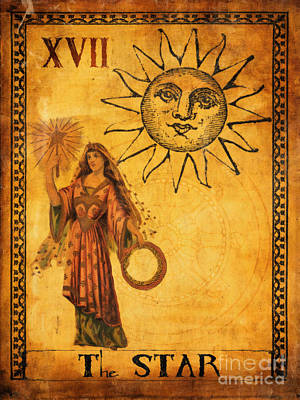 Tarot Wall Art - Painting - Tarot Card The Star by Cinema Photography