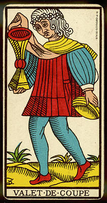Tarot Drawing - Tarot Card - Valet De Coupe (page by Mary Evans Picture Library