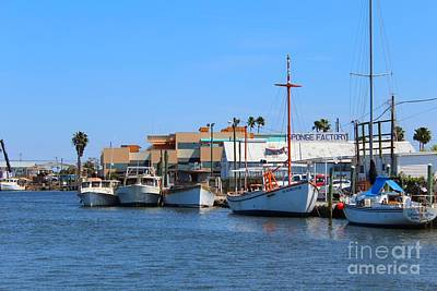 Art Print featuring the painting Tarpon Springs Boats by Jeanne Forsythe