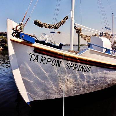 Photograph - Tarpon Springs Spongeboat by Benjamin Yeager