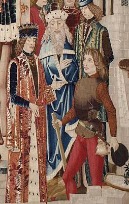 People Tapestries - Textiles Photograph - Tarquinius Priscus. Ca. 1475. History by Everett