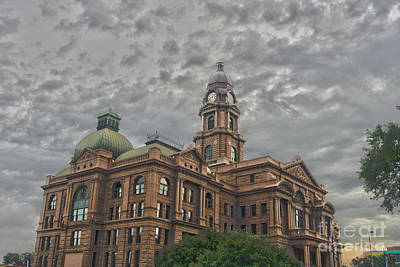 Photograph - Tarrant County Courthouse by Eddie Lee