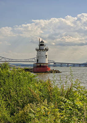 Photograph - Tarrytown Lighthouse And The Tappan Zee Bridge by Marianne Campolongo
