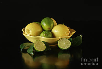 Tart And Tasty With Lemon And Lime Art Print by Inspired Nature Photography Fine Art Photography