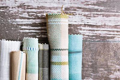 Tartan Fabrics Art Print by Tom Gowanlock