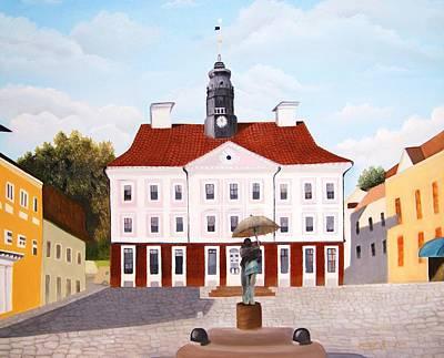 Pause Painting - Tartu Town Square         by Misuk Jenkins