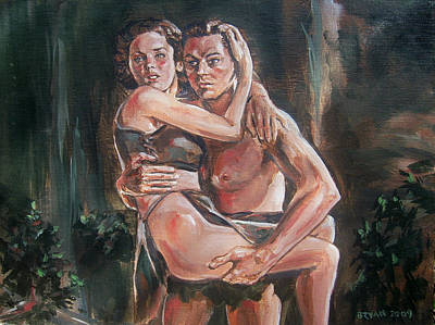 Maureen Painting - Tarzan And His Mate by Bryan Bustard