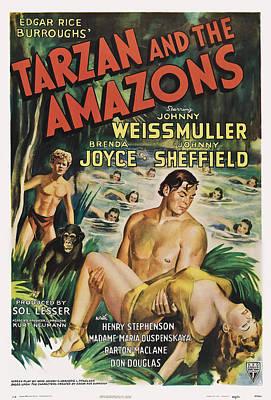 Tarzan And The Amazons, From Left Art Print by Everett