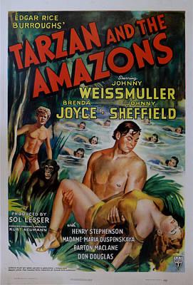 Tarzan And The Amazons Art Print
