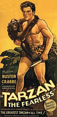 Tarzan The Fearless  Art Print by Movie Poster Prints