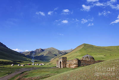 Tash Rabat Caravanserai In The Tash Rabat Valley Of Kyrgyzstan  Art Print by Robert Preston