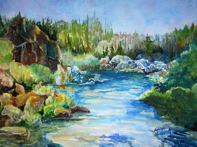 Painting - Tasmania River by Marilyn  Clement