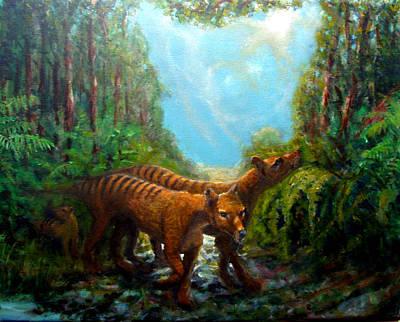 Marsupial Painting - Tasmania Sighting by Graham Keith