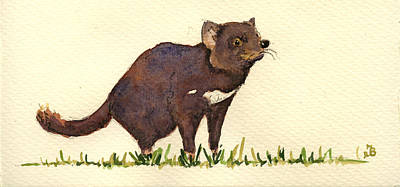 Marsupial Painting - Tasmanian Devil by Juan  Bosco
