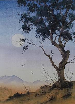 Painting - Tasmanian Moon by David Clode