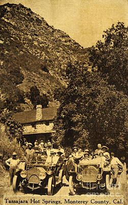Photograph - Tassajara Hot Springs Monterey County Calif. 1915 by California Views Mr Pat Hathaway Archives