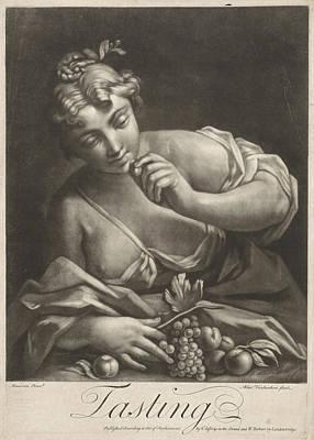Peach Drawing - Taste, Alexander Van Haecken, T. Jefferys by Alexander Van Haecken And T. Jefferys And W. Herbert