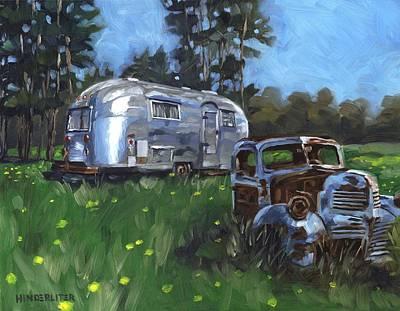 Airstream Trailer Painting - Taste Of Heaven by John HInderliter