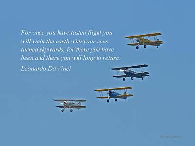 Tasting Flight Art Print by Jonathan E Whichard