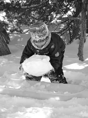 Snowball Fort Photograph - Tasting Winter by Sheri Lauren Schmidt