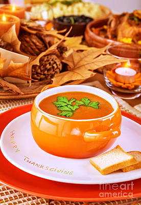 Autumn Soup Photograph - Tasty Soup by Anna Om